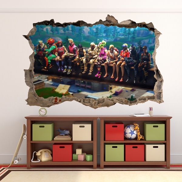 Wall Stickers: Hole Fortnite Lunch beam