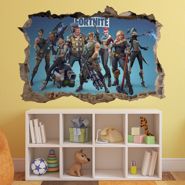 Wall Stickers: Hole Fortnite Ready
