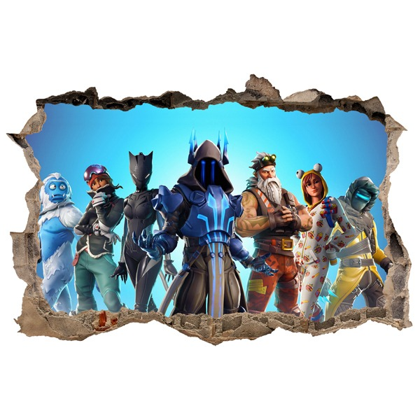 Wall Stickers: Hole Fortnite Action