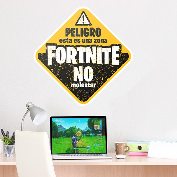 Car & Motorbike Stickers: Fortnite peligro