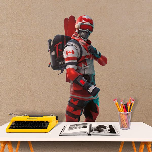 Wall Stickers: Canadian Skier