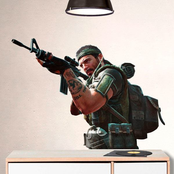 Wall Stickers: Soldier pointing