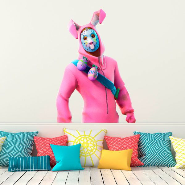 Wall Stickers: Pink rabbit