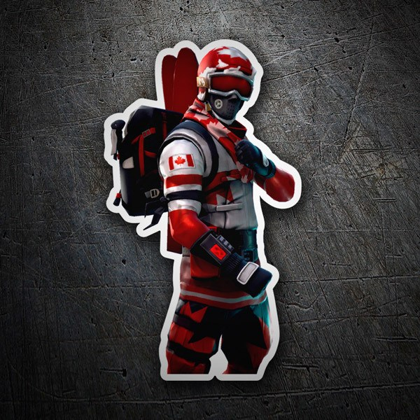 Wall Stickers: Skin Fortnite canadian skier