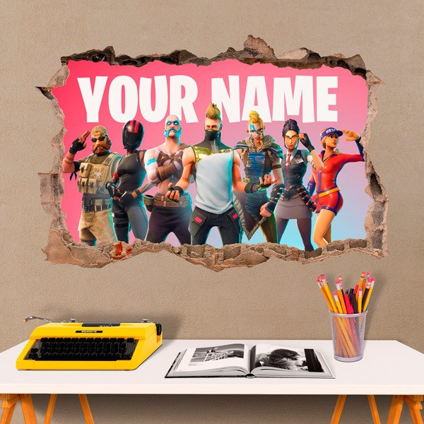 Wall Stickers: Fortnite Customized