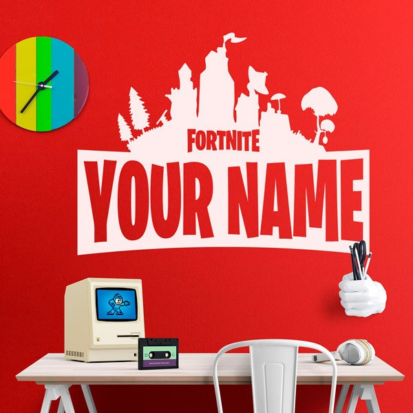 Wall Stickers: Personalized Fortnite Shelter