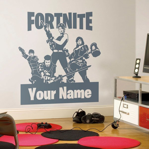 Wall Stickers: Custom Fortnite Squadron