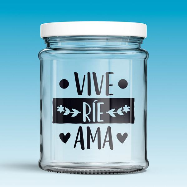 Wall Stickers: Vive, ríe, ama