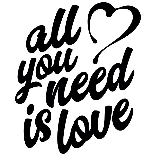 Wall Stickers: All you need is love