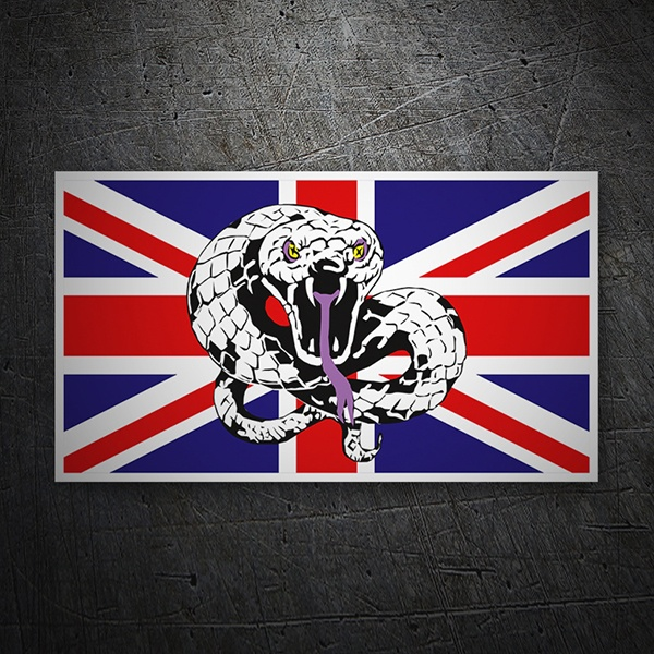 Car & Motorbike Stickers: United Kingdom Flag and Snake