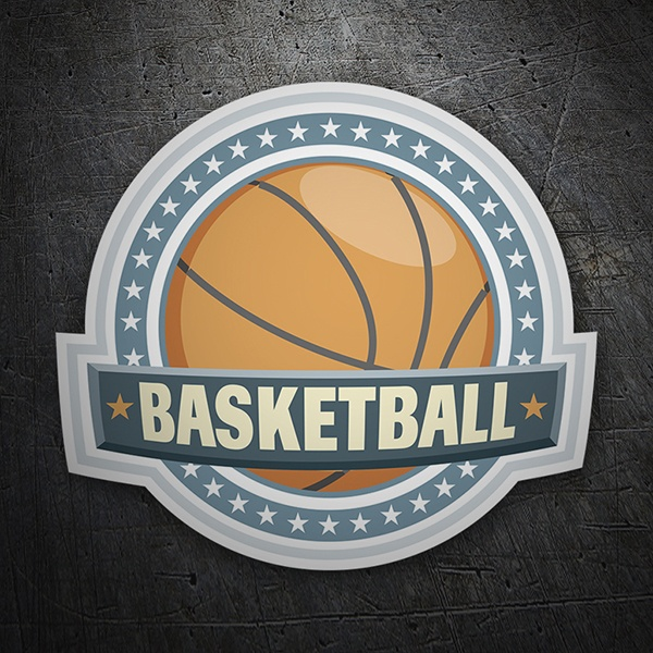 Car & Motorbike Stickers: Basketball