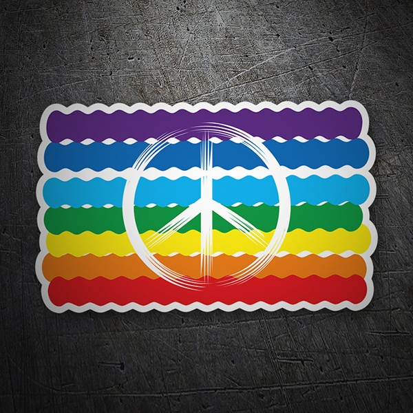 Car & Motorbike Stickers: Gay Pride Flag, Peace