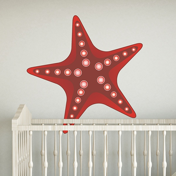 Car & Motorbike Stickers: Red Sea Star