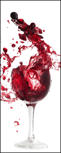 Wall Stickers: Glass of red wine
