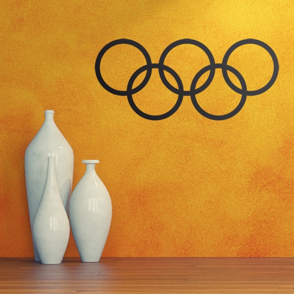 Car & Motorbike Stickers: Olympic hoops