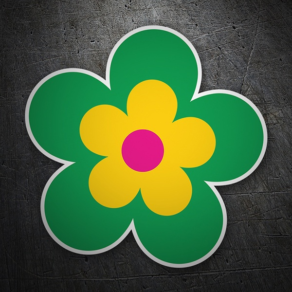 Wall Stickers: Multicolor flower