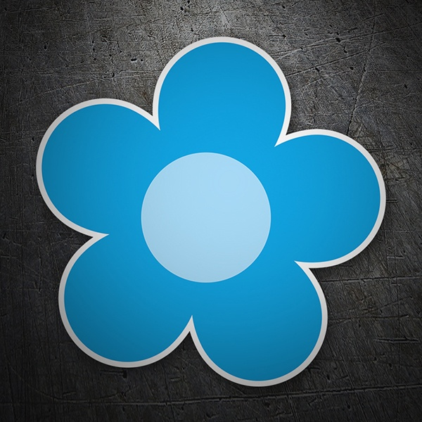 Wall Stickers: Blue flower