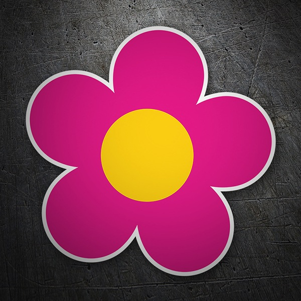 Wall Stickers: Flower pink and yellow