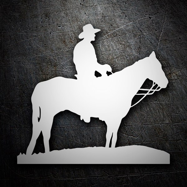 Car and Motorbike Stickers: Cowboy on horseback