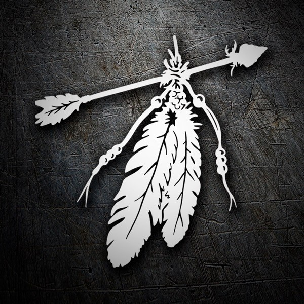 Car and Motorbike Stickers: Indian Arrow and Feather