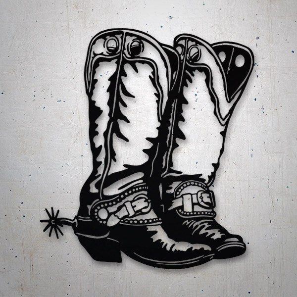 Car and Motorbike Stickers: Cowboy Boots