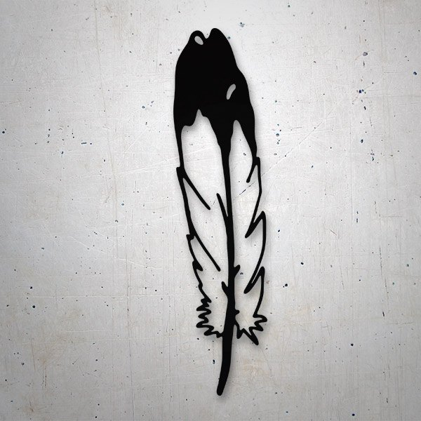 Car and Motorbike Stickers: Indian feather