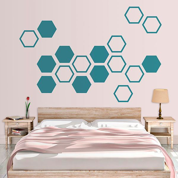 Wall Stickers: Custom Geometric Kit