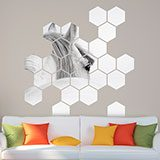 Wall Stickers: White horse Geometric kit 3