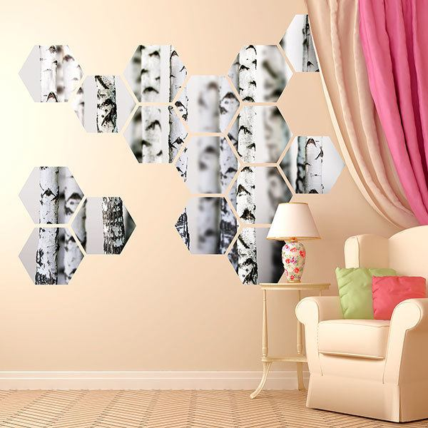 Wall Stickers: Birch Geometric kit