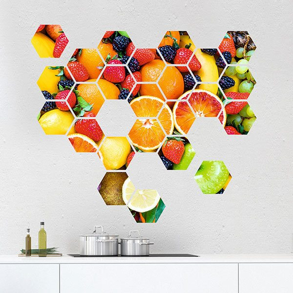 Wall Stickers: Fruit Geometric kit