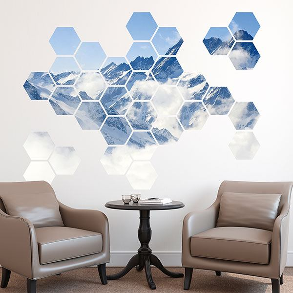 Wall Stickers: Everest Geometric kit