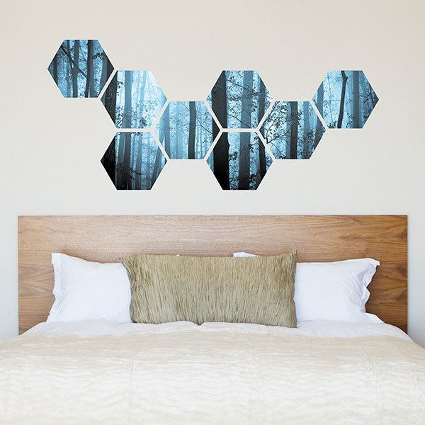 Wall Stickers: Blue forest Geometric kit