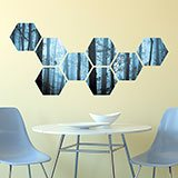 Wall Stickers: Blue forest Geometric kit 3