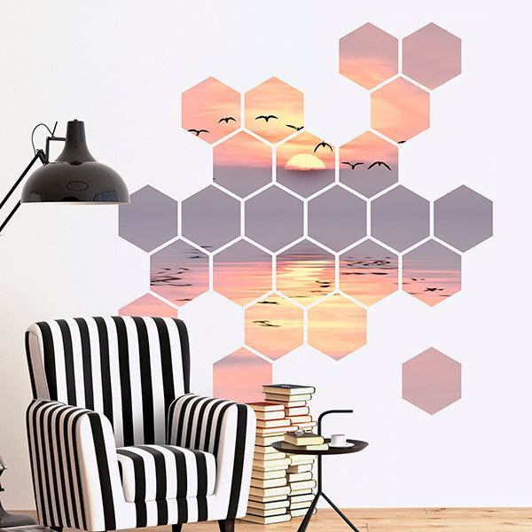 Wall Stickers: Sunset Geometric kit