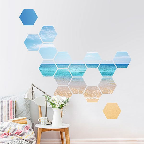 Wall Stickers: Caribbean Beach Geometric kit