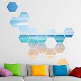 Wall Stickers: Caribbean Beach Geometric kit 3