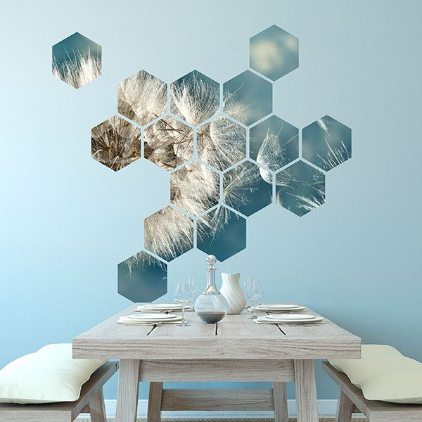 Wall Stickers: Dandelion Geometric kit