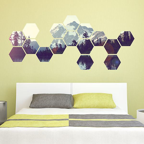 Wall Stickers: Mountains Geometric kit