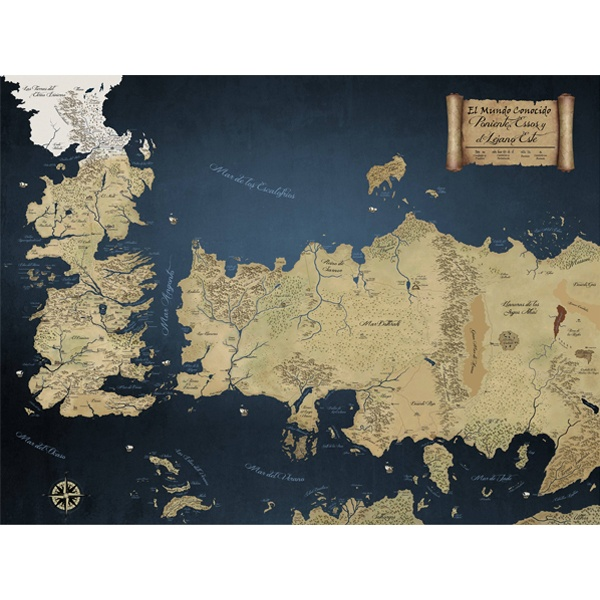 Wall Mural Map Of The 7 Kingdoms Game Of Thrones Muraldecal Com