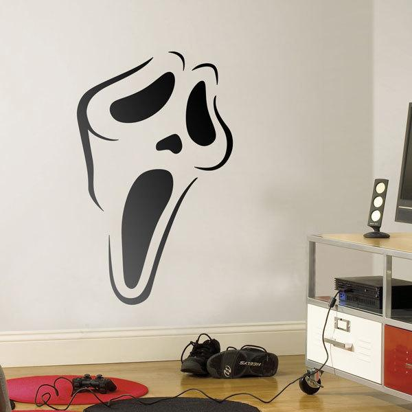 Wall Stickers: Scream Mask