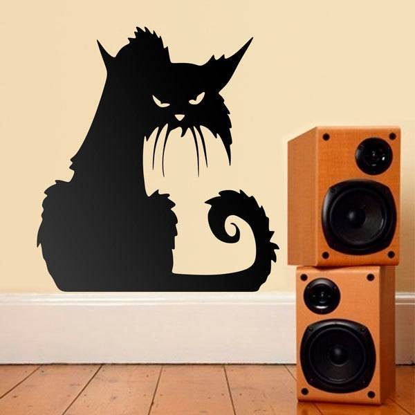 Wall Stickers: Malignant cat