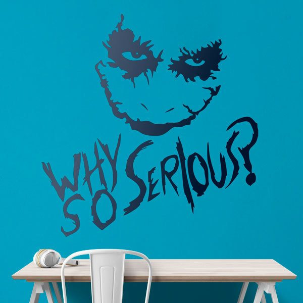 Wall Stickers: Why so serious? (Joker, Batman)
