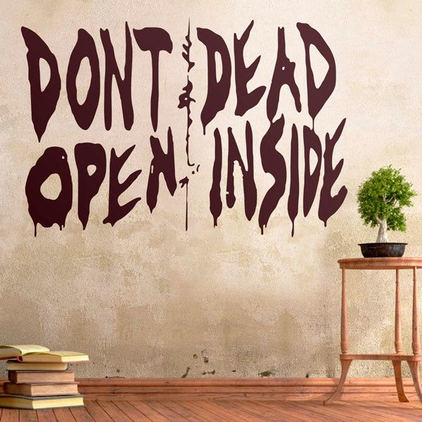 Wall Stickers: Don't open, dead inside (Walking dead)