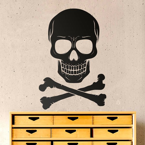 Wall Stickers: Skull with two bones