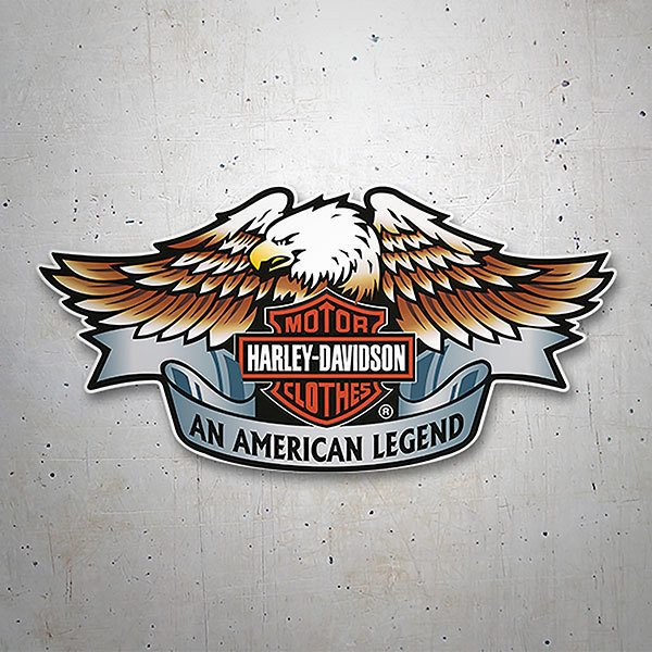 Car & Motorbike Stickers: Harley Davidson an American Legend