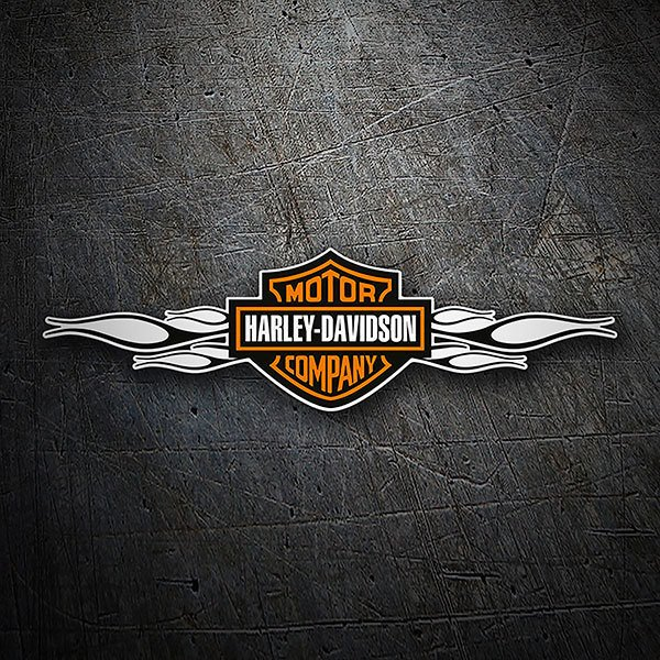 Car & Motorbike Stickers: Harley Davidson black flames