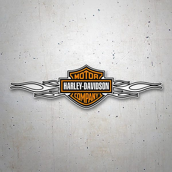 Car & Motorbike Stickers: Harley Davidson white flames
