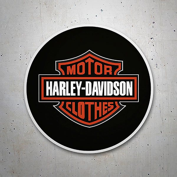 Car & Motorbike Stickers: Harley Davidson with black background