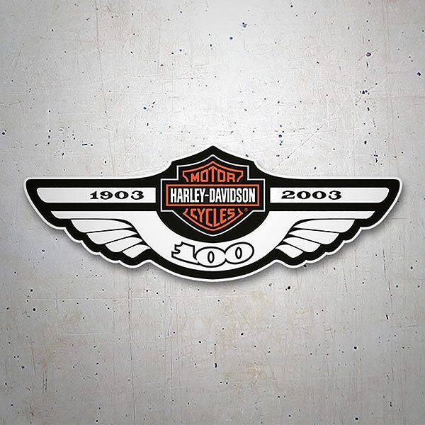 Car & Motorbike Stickers: Harley Davidson 1903-2003