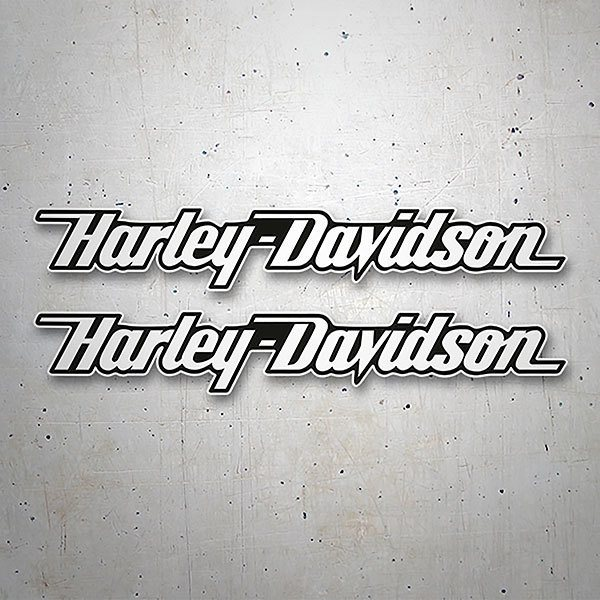 Car & Motorbike Stickers: Kit Harley Davidson skid white